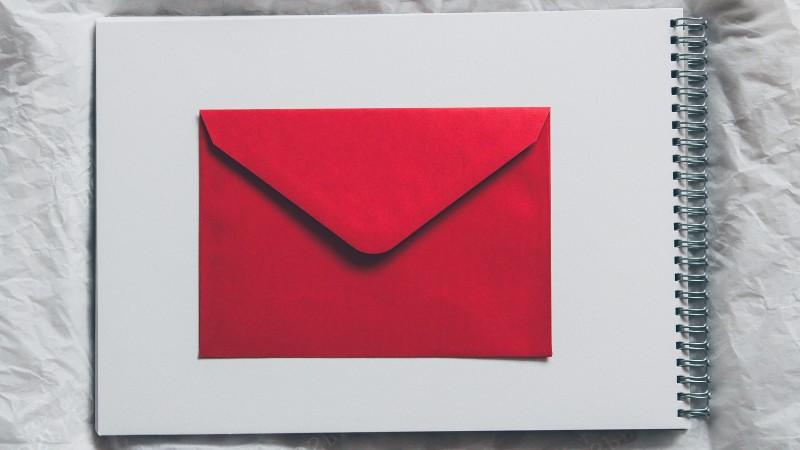 Foto di un lettera