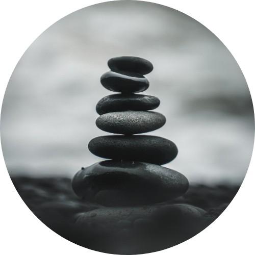 Foto di una colonna di rocce