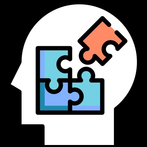 Disegno di un puzzle che si compone in una testa
