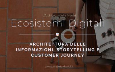 Architettura delle Informazioni ed Ecosistemi Digitali
