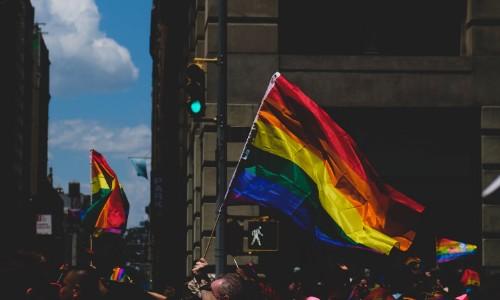 Foto di una bandiera della pace