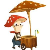 Immagine di un fungo umanoide