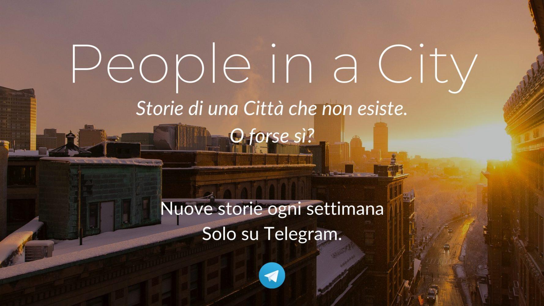 Copertina del canale telegram di People in a City