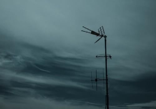 Foto di un'antenna ricevente