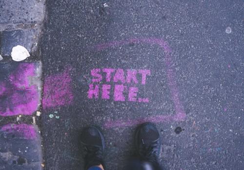 """Foto con la scritta """"Start Here"""""""