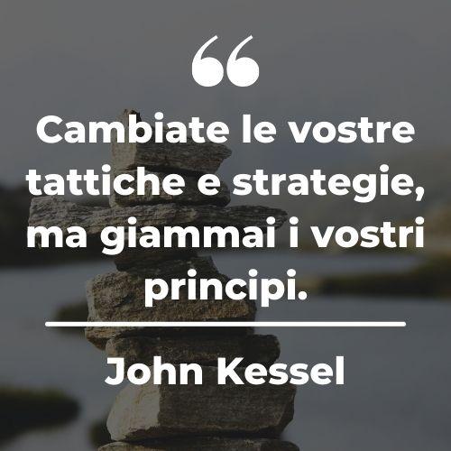 Immagine con sopra una citazione sulla strategia